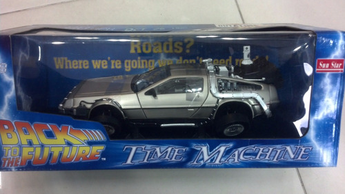 carro volver al futuro 2  delorean toy welly 1:18