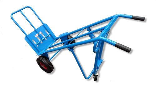 carro zorra 3 ruedas 3 posiciones plataforma amplia equus