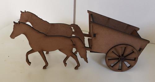 carroça country, fazendinha decoração festa provençal 10und