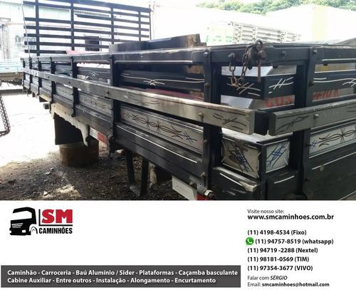 carroceria de madeira 4,85m 4,90m 4,80m 4,50m