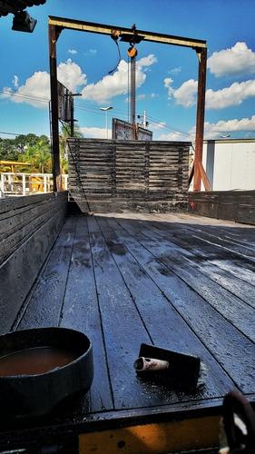 carroceria de madeira 6,50m