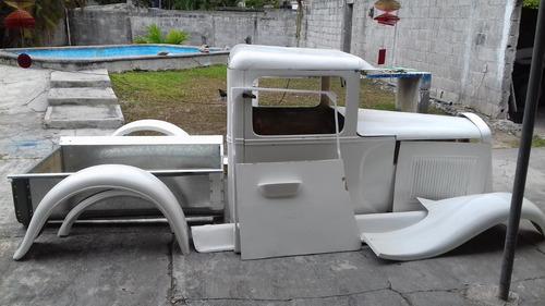 carrocería en fibra de vidrio pick up ford serie a 1929-1931