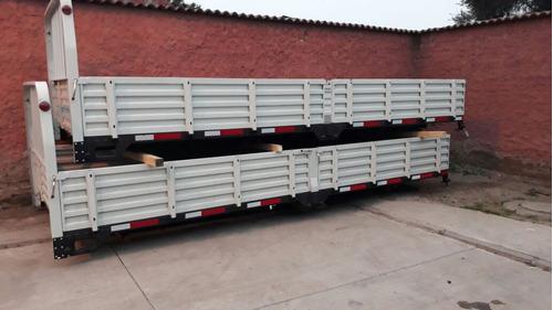 carrocería plana con baranda nueva 6.60x2.40x0.50 $1.200.000