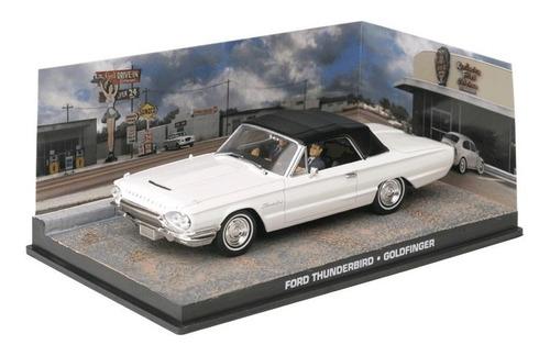 carros 007 - ford thunderbird - goldfinger - miniatura