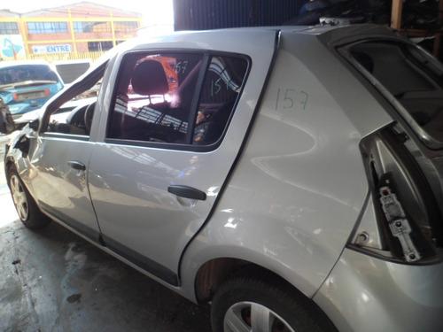 carros batidos reanult sandero esxpression 1.0 8v flex 2010