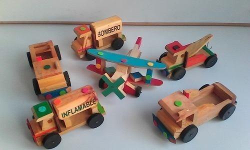 Carros De Madera Juegos Para Ninos Juguetes Carritos Bs 1 500 00