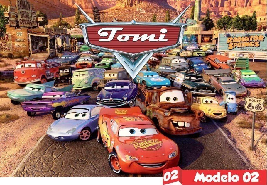 Carros Disney Desenho Animado Painel De Festa Nome De Brinde R