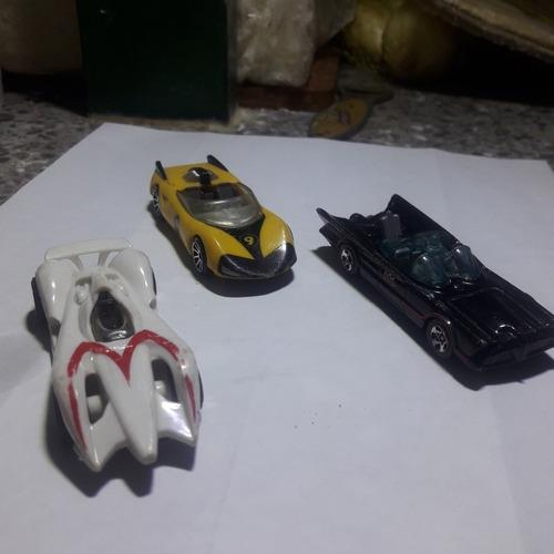 carros hot wheels de colección  meteoro, red y batman