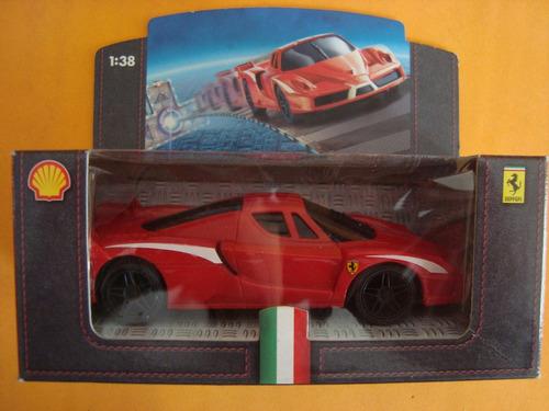 carros miniatura  coleção shell v power  ferrari fxx  1/38