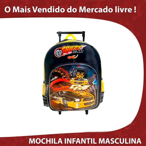 carros mochila escolar infantil rodinha material puxar bolsa