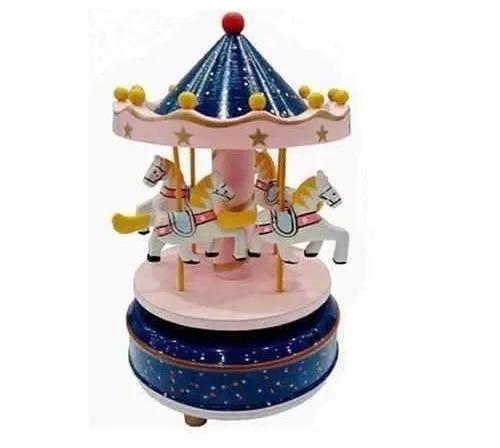 carrossel musical - caixa de música cavalinhos - bebê menina