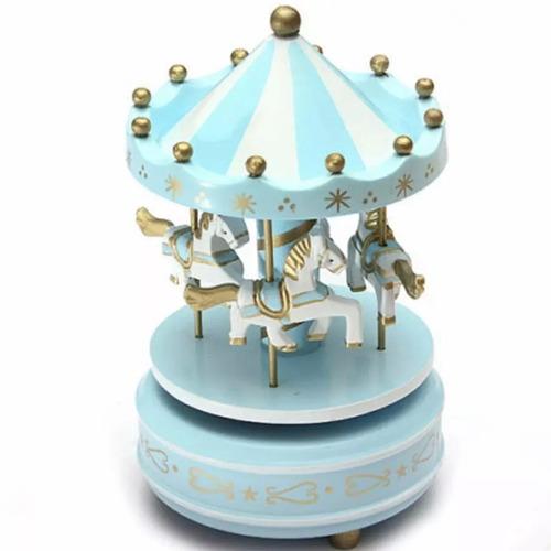 carrossel musical caixa de musica cavalinhos bebe menino