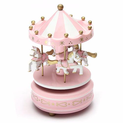 carrossel musical caixa de música rosa melodia bebê barato