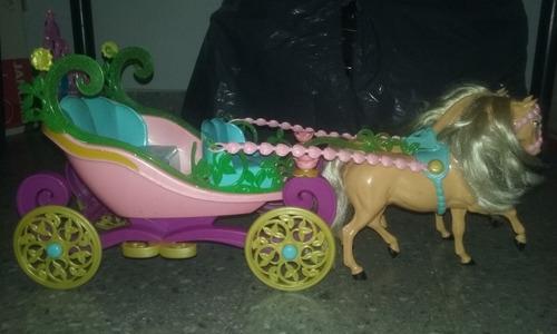 carroza de barbie princesa de la isla original