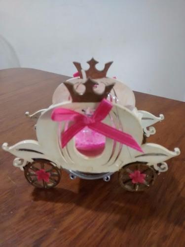 carroza de cenicienta con vela,souvenirs 15 años