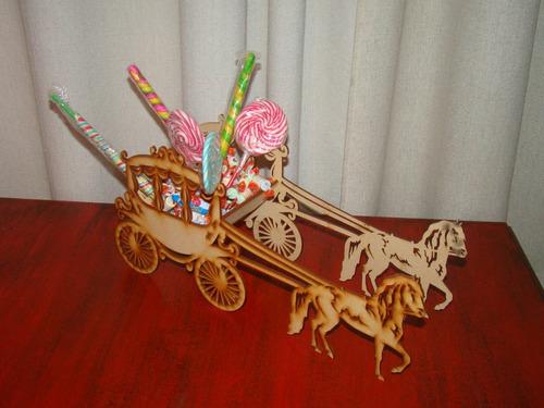carroza fibrofacil carruaje candy bar cumpleaños decoracion