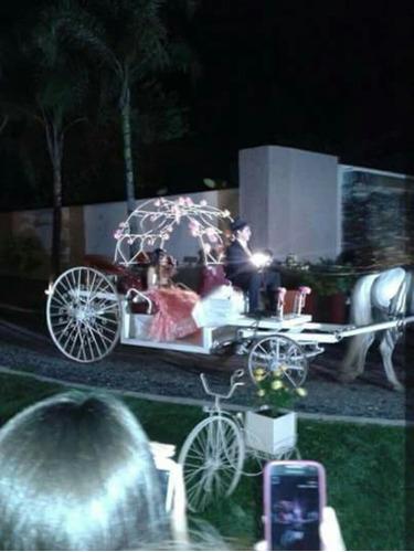 carroza para fiestas casamiento cumpleaños de 15