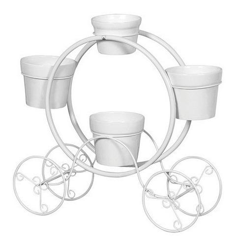 carruagem decorativa para jardim com vasos decoração de casa