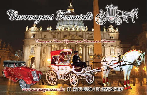 carruagem e carros para casamento noivas e debutantes