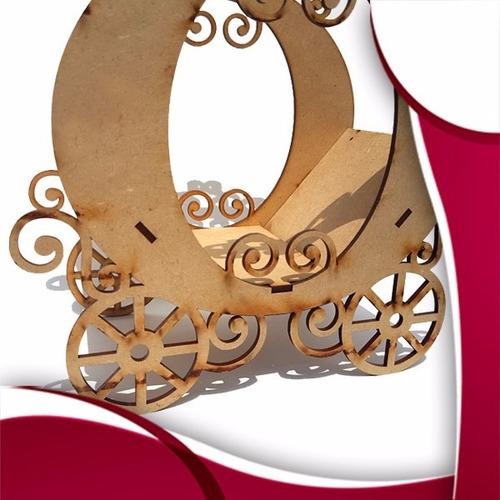 carruaje cenicient centro de mesa madera mdf xv años bodas