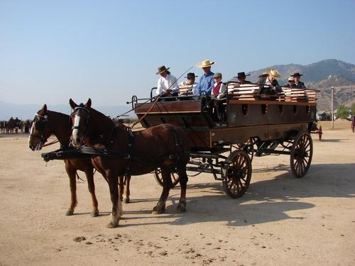 carruaje de paseo a caballo para 23 pasajeros