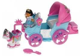 carruaje de princesa azul little people