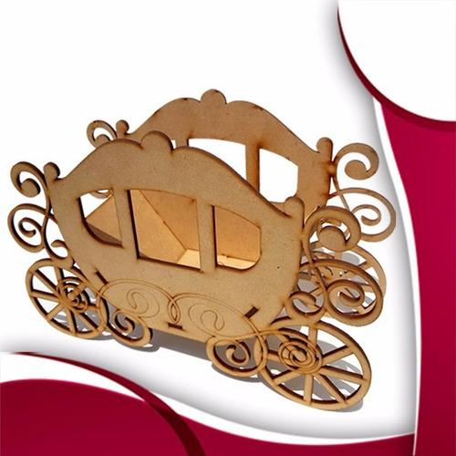 carruaje princesa  centro de mesa madera mdf xv años bodas