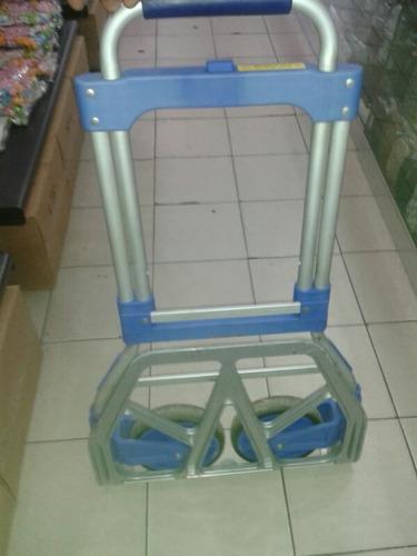 carrucha plegable de aluminio capacidad 130 kg