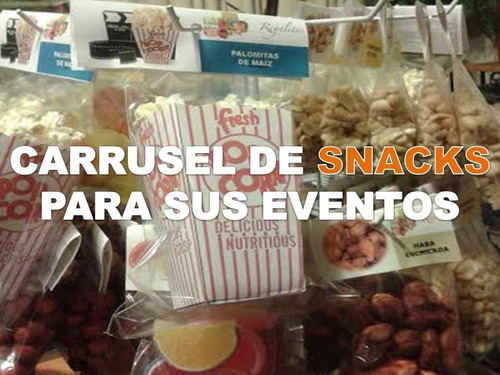 carrusel de snacks para eventos
