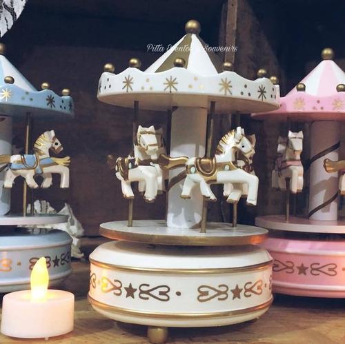 carrusel decoración mesa souvenir centros candy musical
