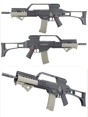 carry handle g36 aeg mira asa tactica militar m16 m4 airsoft