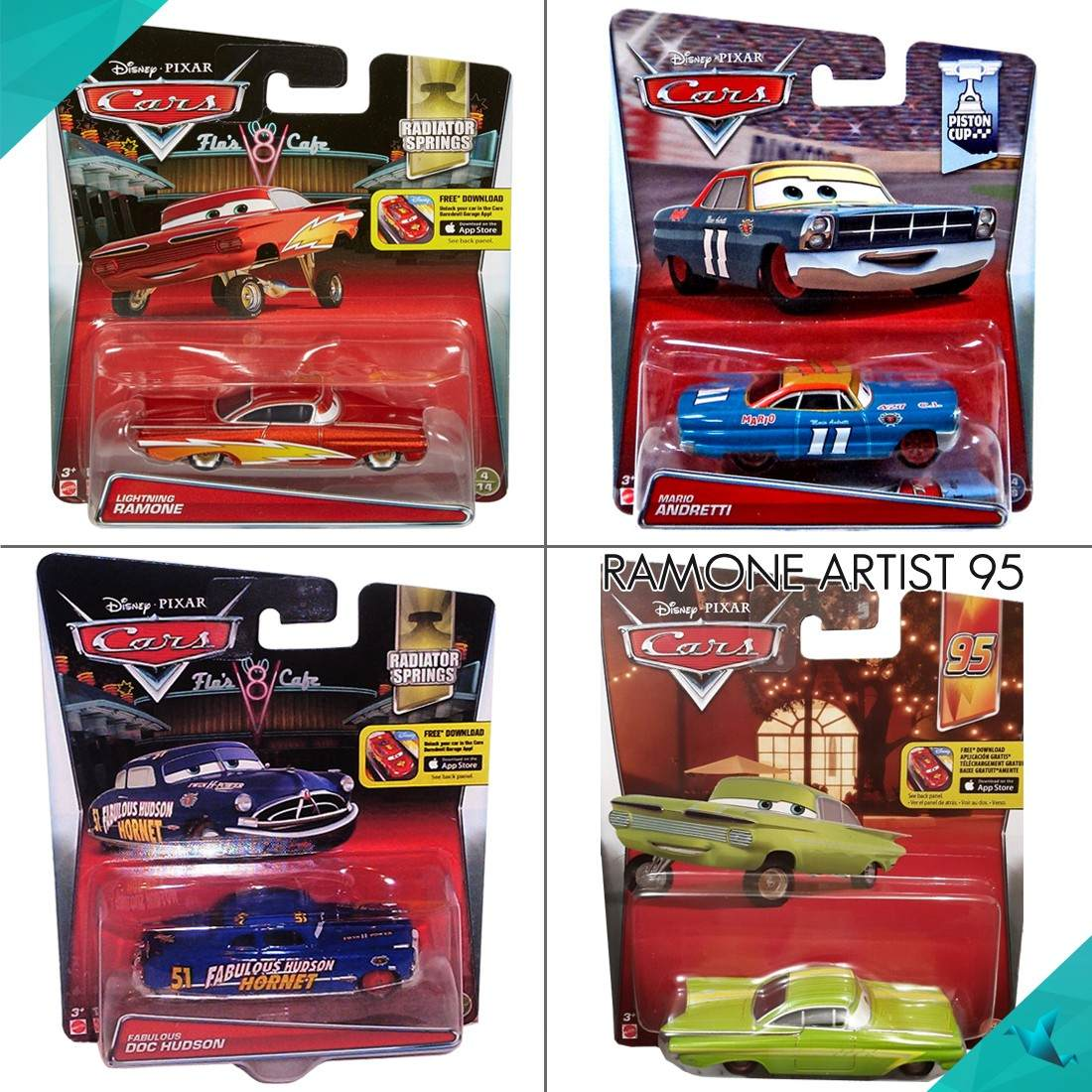 Cars 2 disney pixar rayo mcqueen mate finn no - Cars en juguetes ...