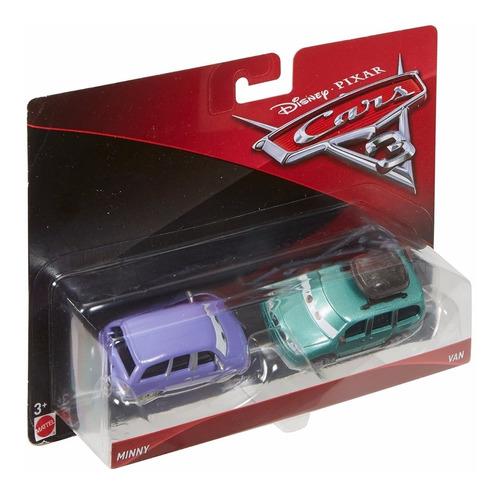 cars 3 disney pixar - minny van (2-pack), escala 1:55