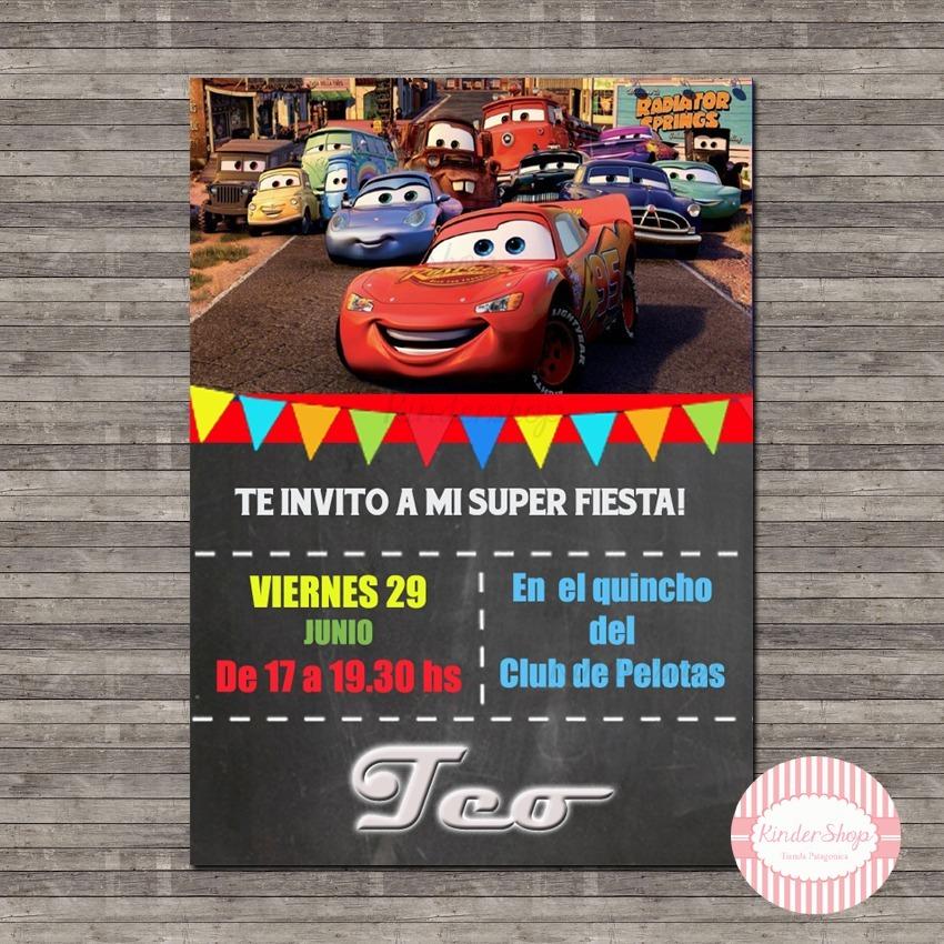 Cars 40 Invitaciones Tarjetas Impresas 14x10cm