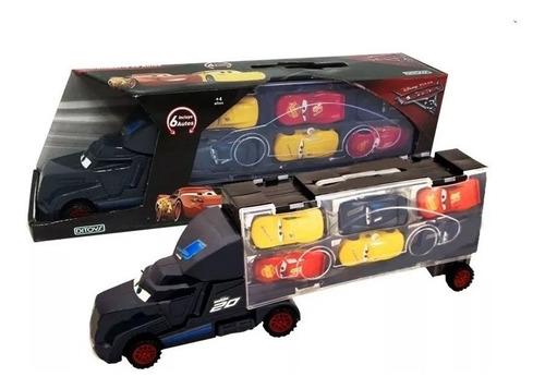 cars camion transporte de autos con 6 autos original ditoys