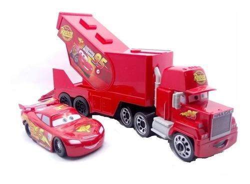 cars disney camion mula niñera + carro rayo mcqueen ajd
