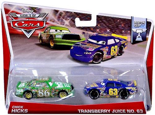 cars disney chick hicks- transberry juice  nro 63bunny toys