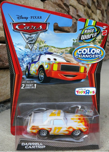 cars disney darrell cartrip. color changers.