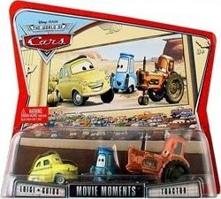 cars disney luigi, guido & tractor. woc. movie moment.