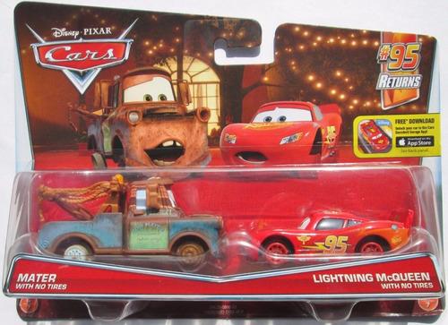 Subasta De Carros >> Cars Disney Mater & Mcqueen No Tires. Sin Llantas ...
