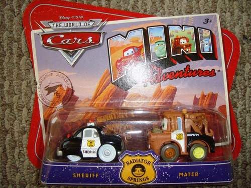 cars disney sheriff & mater. mini adventures.