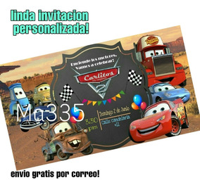 Cars Invitacion Digital Envio Gratis
