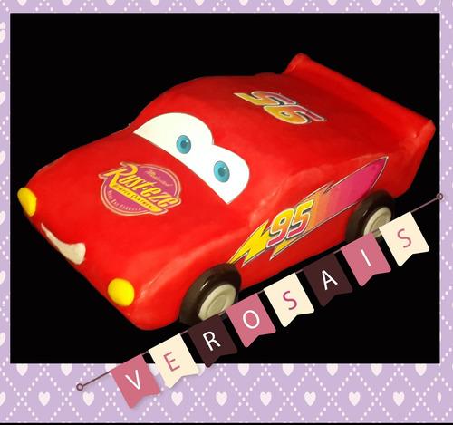 cars rayo  adorno torta porcelana fria clash royale cumpleañ
