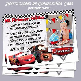 Cars Rayo Invitaciones Cumpleaños Personalizadas Foto 10 Un