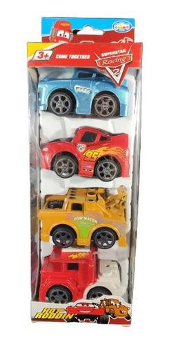 cars set  de 4 carritos de juguete