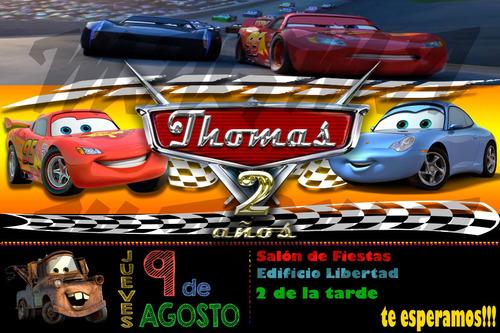 cars tarjeta digital de invitación personalizada