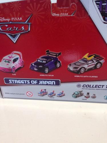 cars toons tokio mater 3 pza metal disney pixar