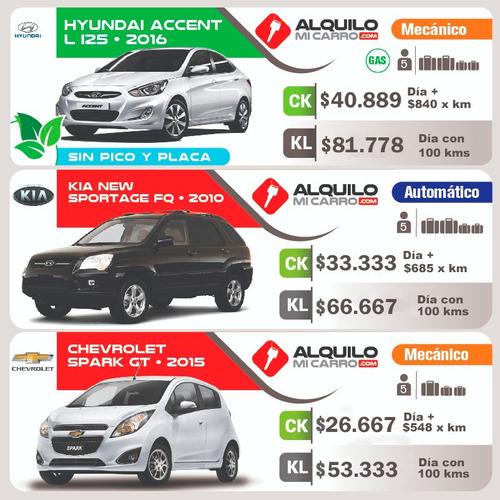 carsharing desde $16.667/día y $342 por km  todo incluido