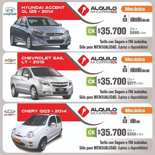 carsharing desde $35.700/día y $333 por km  todo incluido