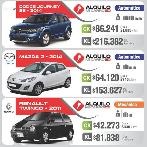 carsharing desde $39.000/día y $333 por km  todo incluido